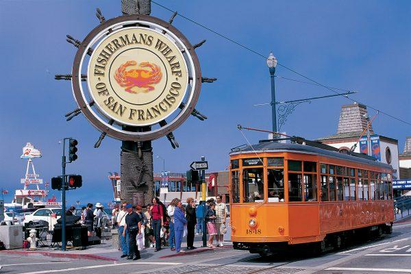 サンフランシスコ フィッシャーマンズワーフの様子